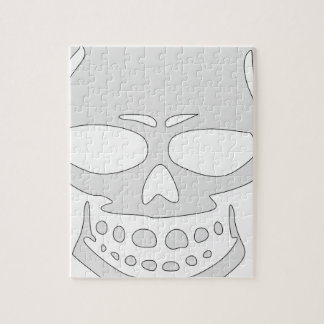 Angry Skull Face Jigsaw Puzzle
