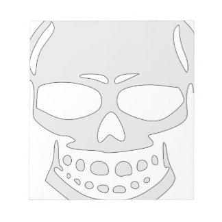 Angry Skull Face Notepad