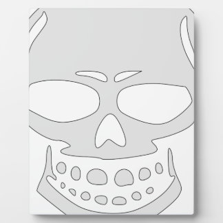Angry Skull Face Plaque