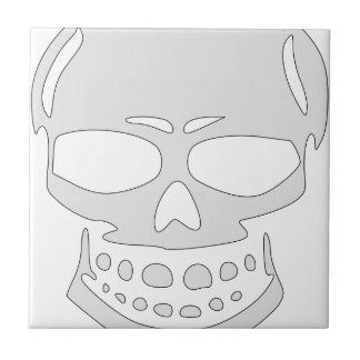Angry Skull Face Tile