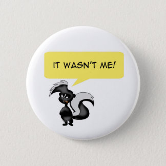 Angry skunk 2 inch round button