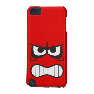 Angry Smiley Face Red iPod Touch 5G Covers