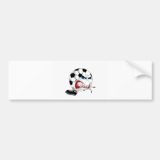 Angry Soccer Ball Bumper Sticker
