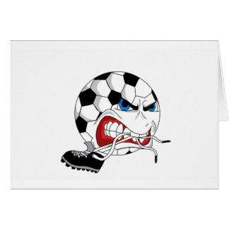 Angry Soccer Ball Card