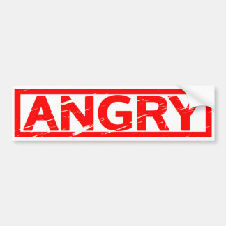 Angry Stamp Bumper Sticker
