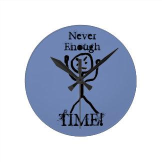 Angry Stick Man Round Clock