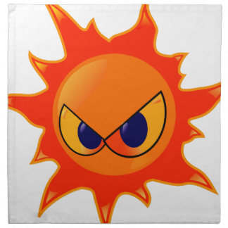Angry Sun Napkin