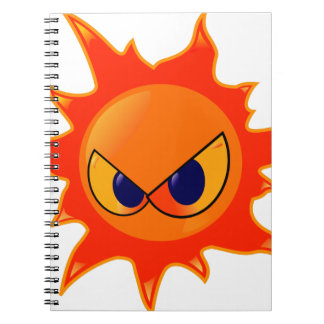 Angry Sun Notebooks