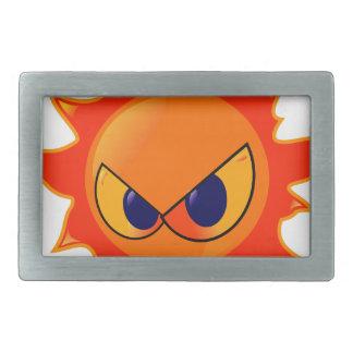 Angry Sun Rectangular Belt Buckles
