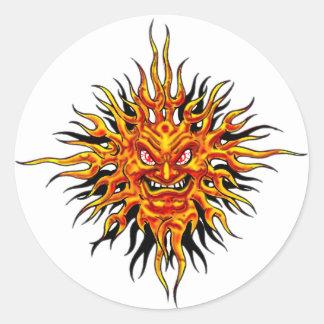 Angry Sun Sticker