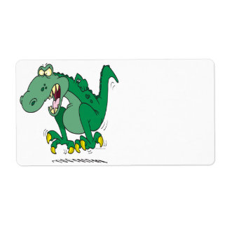 angry t-rex dino tantrum personalized shipping labels