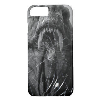 Angry T-Rex, Tyrannosaurus Attacking, broken glass iPhone 8/7 Case