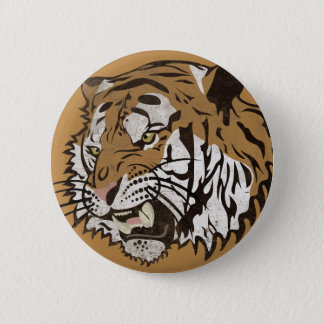 Angry Tiger 2 Inch Round Button