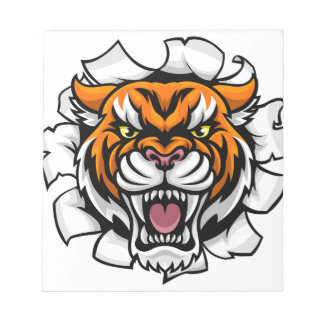 Angry Tiger Background Breakthrough Notepad