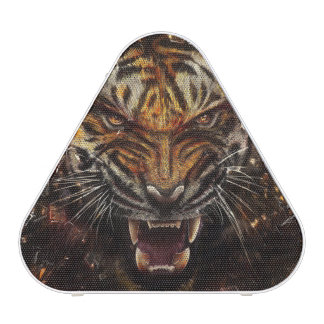 Angry Tiger Breaking Glass Yelow Blueooth Speaker