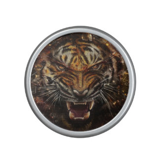 Angry Tiger Breaking Glass Yelow Bluetooth Speaker