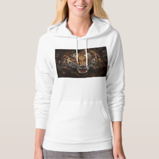Angry Tiger Breaking Glass Yelow Hoodie