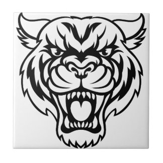 Angry Tiger Sports Mascot Tile