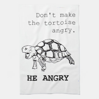 Angry Tortoise Kitchen Towel