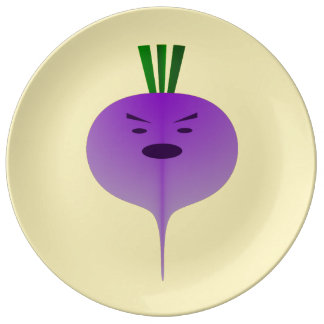 Angry Turnip by Kenneth Yoncich Plate