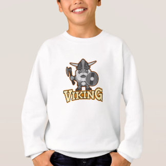Angry viking with ax and shield. sweatshirt