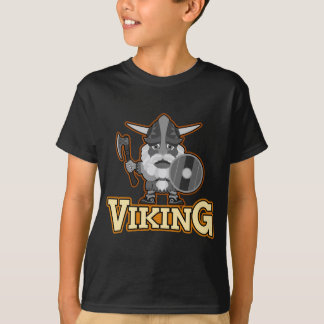 Angry viking with ax and shield. T-Shirt