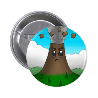 Angry Volcano 2 Inch Round Button