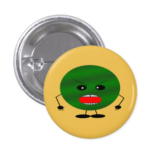 Angry Watermelon 1 Inch Round Button