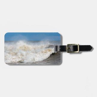 Angry wave photograph bag tag
