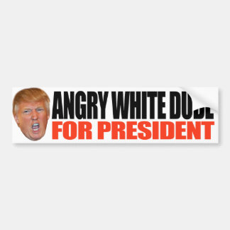 ANGRY WHITE DUDE FOR PRESIDENT - BUMPER STICKER