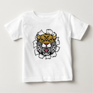 Angry Wildcat Background Breakthrough Baby T-Shirt