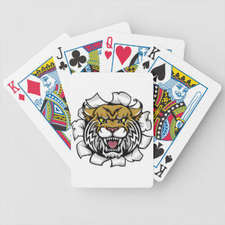 Angry Wildcat Background Breakthrough Bicycle Playing Cards