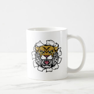 Angry Wildcat Background Breakthrough Coffee Mug