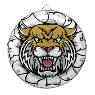 Angry Wildcat Background Breakthrough Dartboard