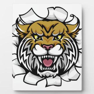 Angry Wildcat Background Breakthrough Plaque