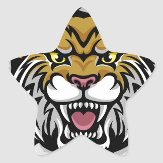 Angry Wildcat Background Breakthrough Star Sticker