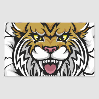 Angry Wildcat Background Breakthrough Sticker
