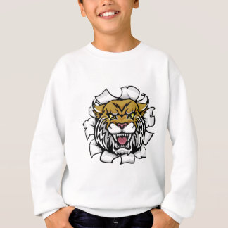 Angry Wildcat Background Breakthrough Sweatshirt