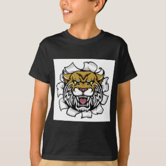 Angry Wildcat Background Breakthrough T-Shirt