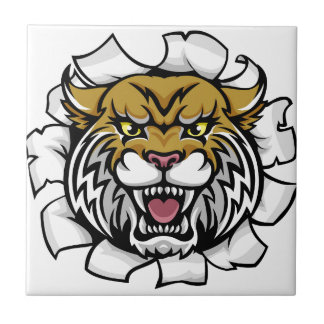 Angry Wildcat Background Breakthrough Tile