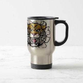 Angry Wildcat Background Breakthrough Travel Mug