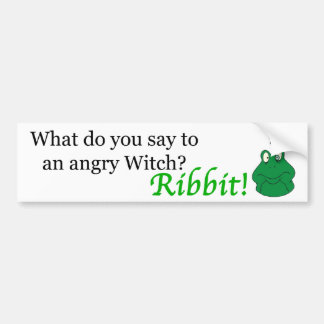 Angry Witch bumpersticker Bumper Sticker