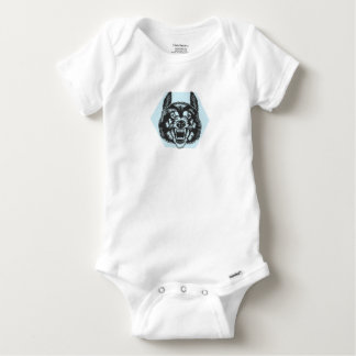 Angry wolf baby onesie