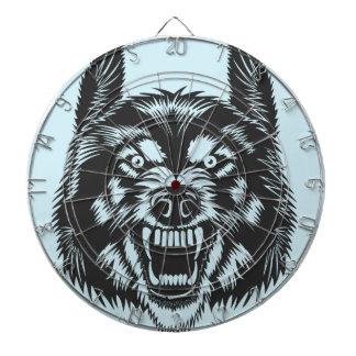 Angry wolf dartboard