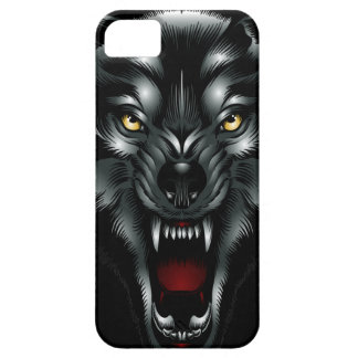 Angry Wolf Face iPhone 5 Case
