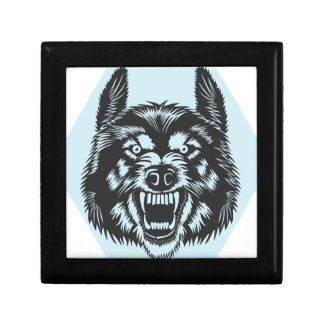 Angry wolf gift box
