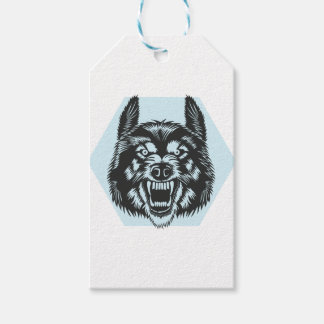 Angry wolf gift tags