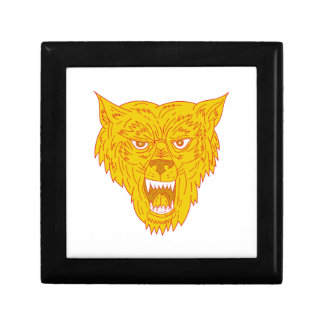 Angry Wolf Head Mono Line Gift Box