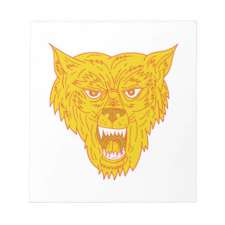 Angry Wolf Head Mono Line Notepad