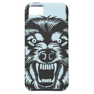 Angry wolf iPhone 5 cover